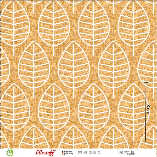Stoffe/Designer/et voilà/Herbstblatt, senf Bild 1