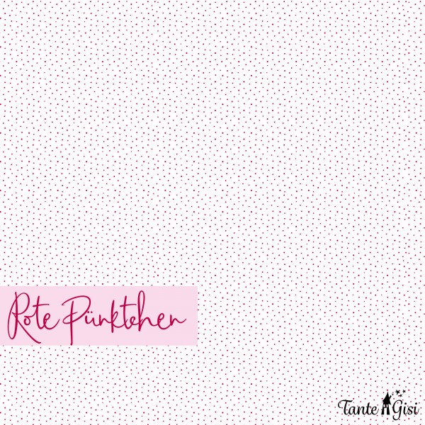 Fabrics/Designers/Tante Gisi/Rote Pünktchen Bild 1