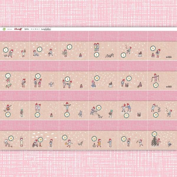 Fabrics/Seasons and holidays/Winter/Susalabims Adventskalender, pastellrosa Bild 1