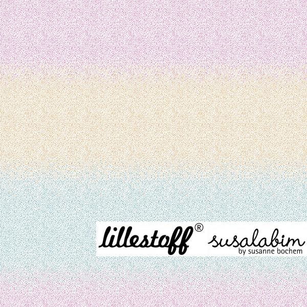 Fabrics/Designers/SUSAlabim/Pünktchenverlauf, pinkorangeblau Bild 1