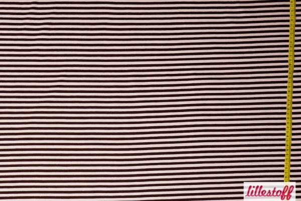 Fabrics/Basics/Stripes/Ringeljersey, braun/beige Bild 1