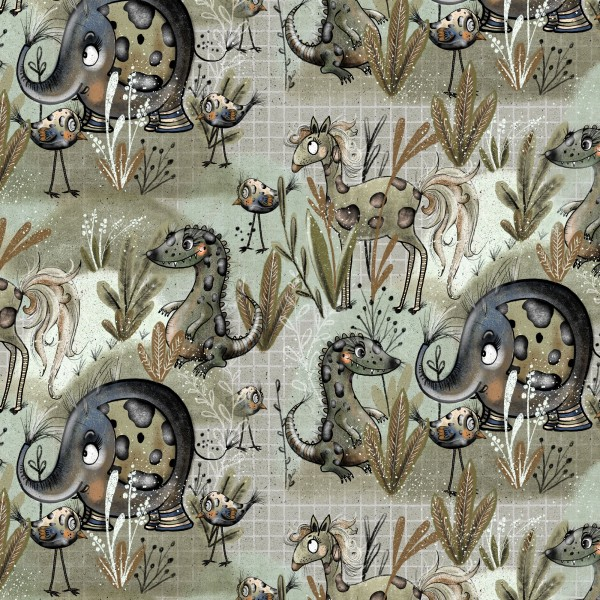 Fabrics/Designers/Tante Gisi/Crazy Jungle Bild 1