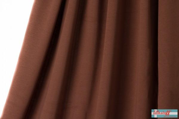 Stoffe/Basics/Jacquard Uni/Uni Jacquard, kakao Bild 1