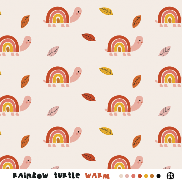 Stoffe/Designer/BORA/Rainbow Turtles, warm Bild 1