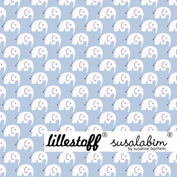 Fabrics/Designers/SUSAlabim/Susalabims Elefant Mini, weiß Bild 1