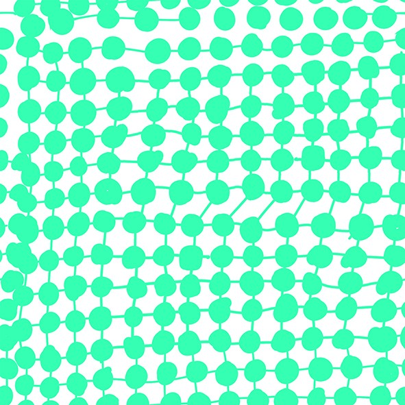 Fabrics/Designers/Miss Patty/Crazy Dots, mint Bild 1
