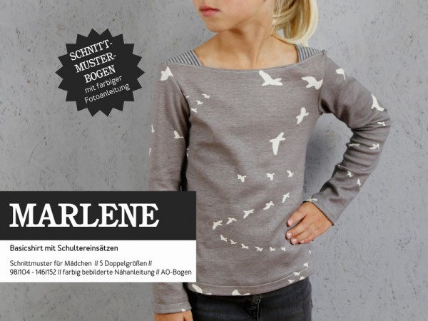 Pattern/STUDIO SCHNITTREIF/Studio Schnittreif - Schnittmuster MARLENE - Basicshirt für Mädchen Bild 1