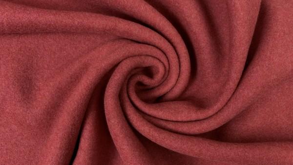 Stoffe/Basics/Double Fleece Uni/Double Fleece, brique Bild 1