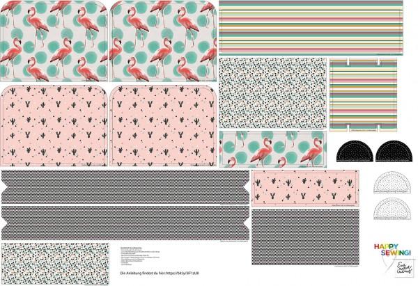 Stoffe/Designer/Enemenemeins/Flamingo Rucksack Bild 1