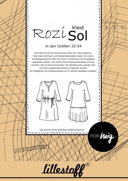 Schnittmuster/lillestoff/Schnittmuster Kleid SOL Bild 1