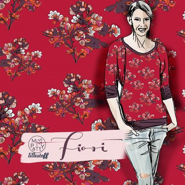 Fabrics/Designers/Miss Patty/Fiori Red Bild 1