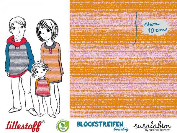 Fabrics/Designers/SUSAlabim/Blockstreifen senfrosa brüchig meliert Bild 1