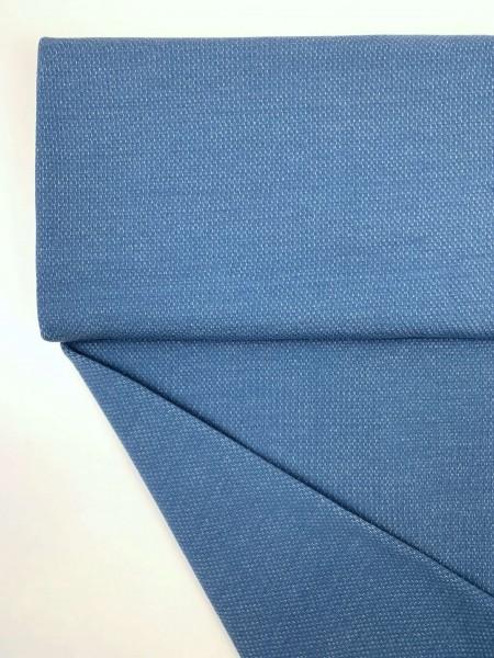 Fabrics/Basics/Solid Jacquard/Jacquardsweat, blau Bild 1