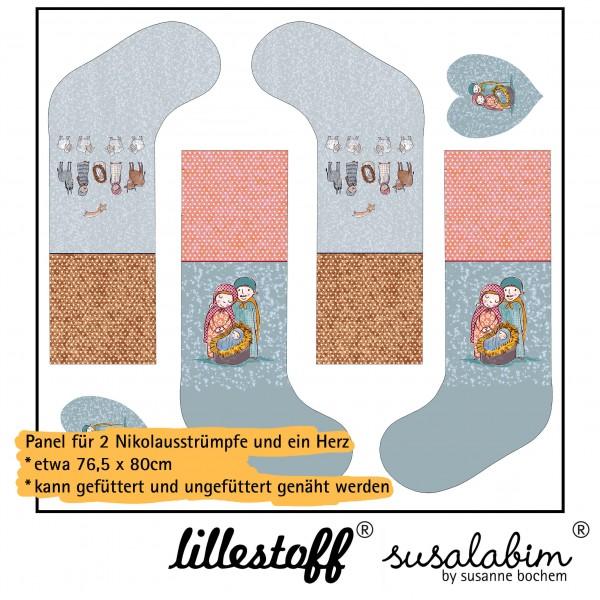 Stoffe/DIY-Bastelpakete/Susalabims Nikolausstrümpfe, Krippe, Panel Bild 1