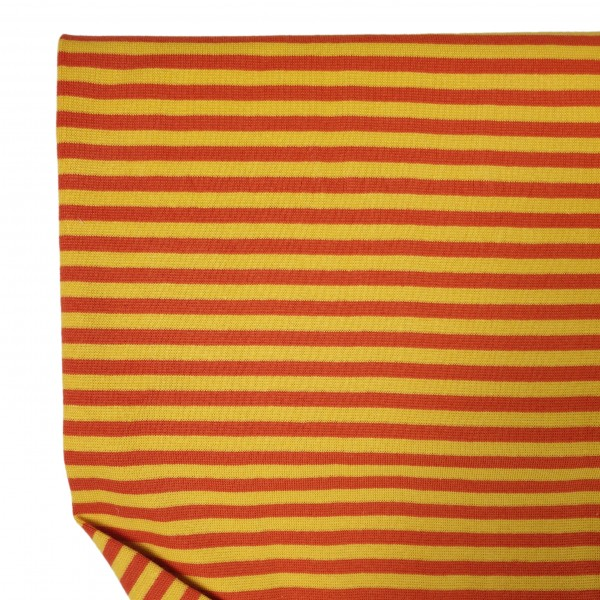 Fabrics/Basics/Striped Cuffs/Bündchen/Ribbing, glatt/smooth, orange/gelb Bild 1